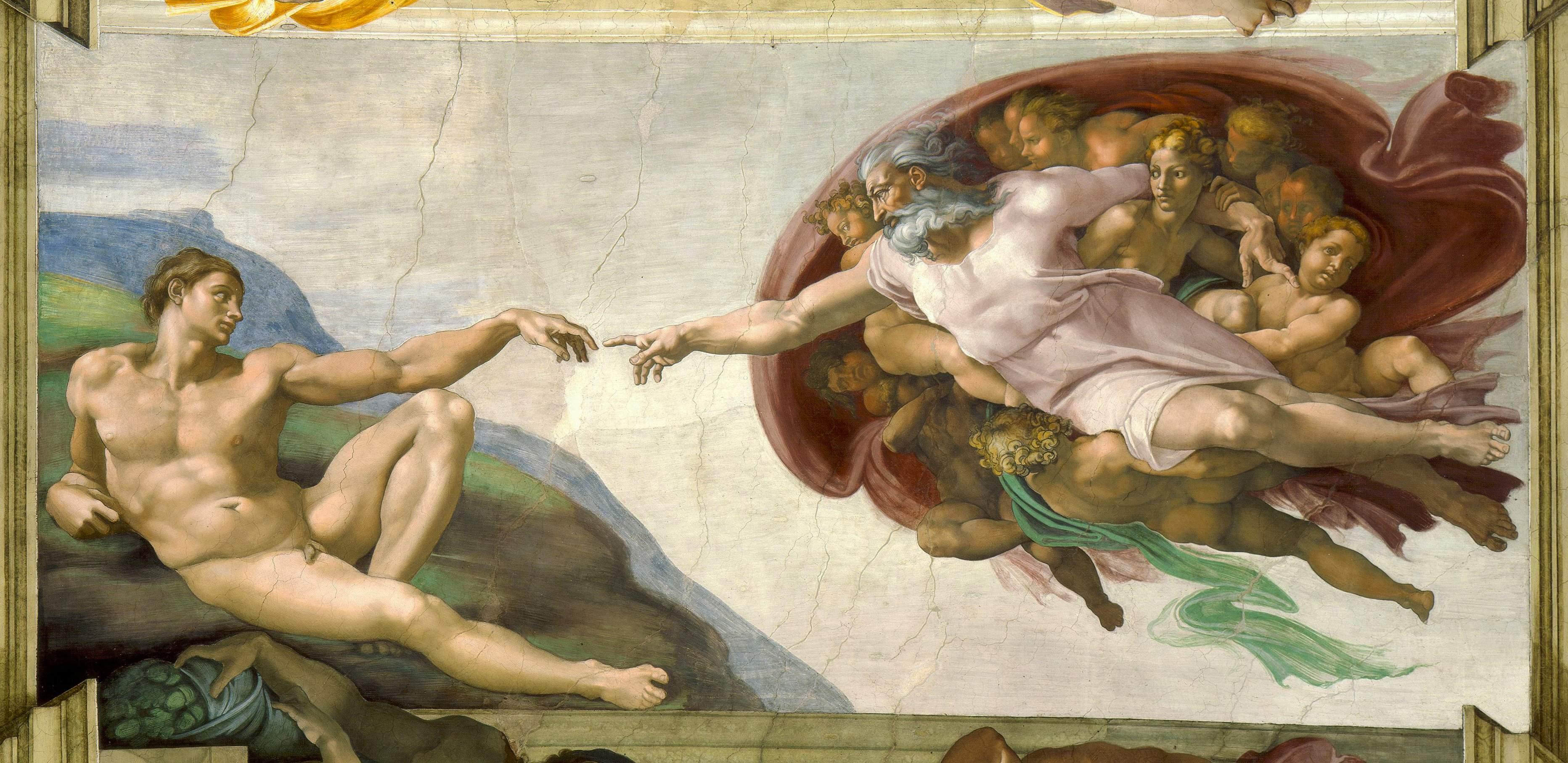 "ADEM'İN YARATILIŞI ""THE CREATION OF ADAM"" – MICHELANGELO"