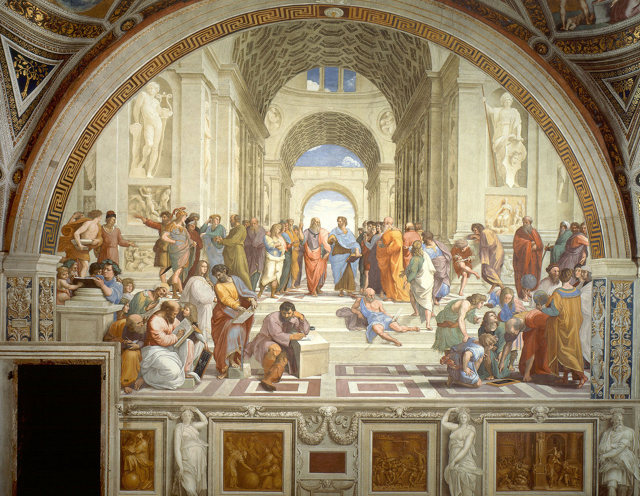 """ATİNA OKULU """"THE SCHOOL OF ATHENS"""" – RAFFAELLO"""