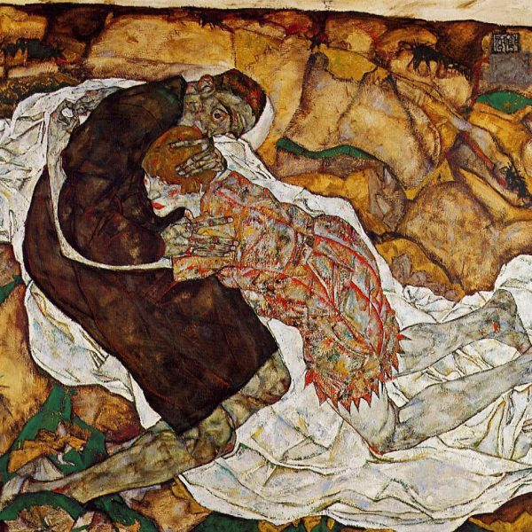 "ÖLÜM VE GENÇ KIZ ""DEATH AND THE MAIDEN"" – SCHIELE"