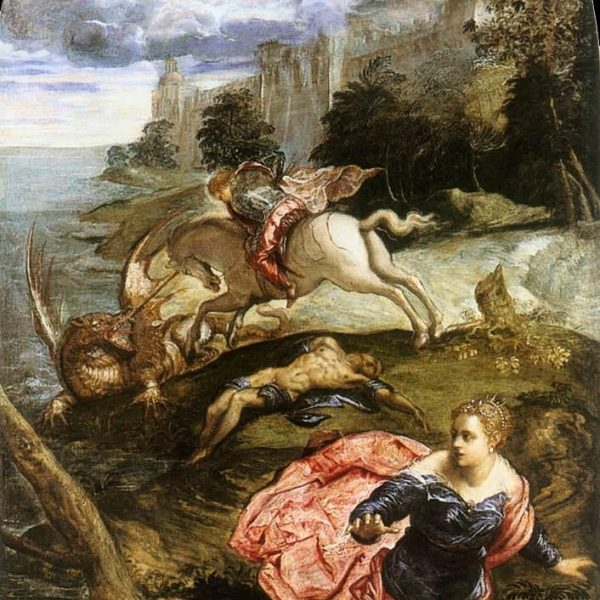 "AZİZ GEORGE VE EJDERHA ""SAINT GEORGE AND THE DRAGON"" – TINTORETTO"
