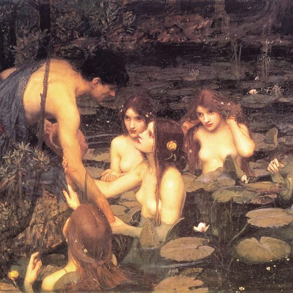 "HYLAS VE SU PERİLERİ ""HYLAS AND THE NYMPHS"" – WATERHOUSE"