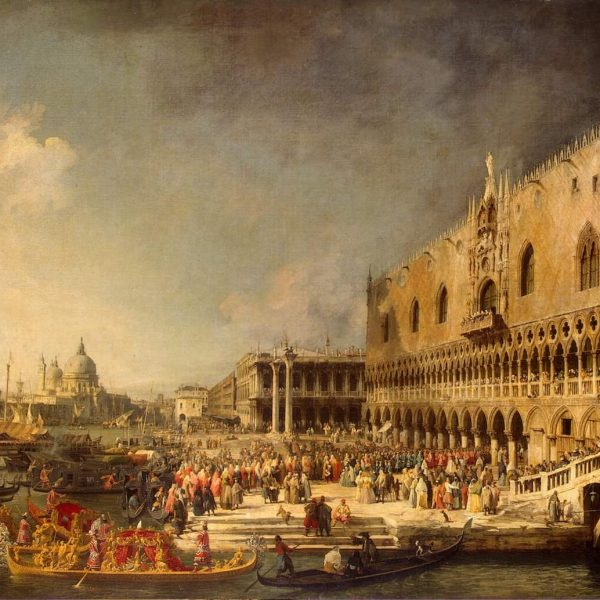 "FRANSIZ ELÇİSİNİN VENEDİK'TE KARŞILANMASI ""RECEPTION OF THE FRENCH AMBASSADOR IN VENICE"" – CANALETTO"