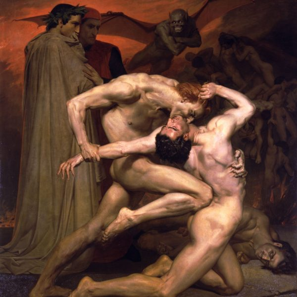 "DANTE VE VIRGILIUS CEHENNEMDE ""DANTE AND VIRGIL IN HELL"" – BOUGUEREAU"
