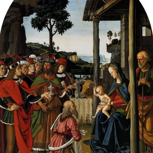 "BİLGELERİN TAPINMASI ""ADORATION OF THE MAGI"" – PERUGINO"