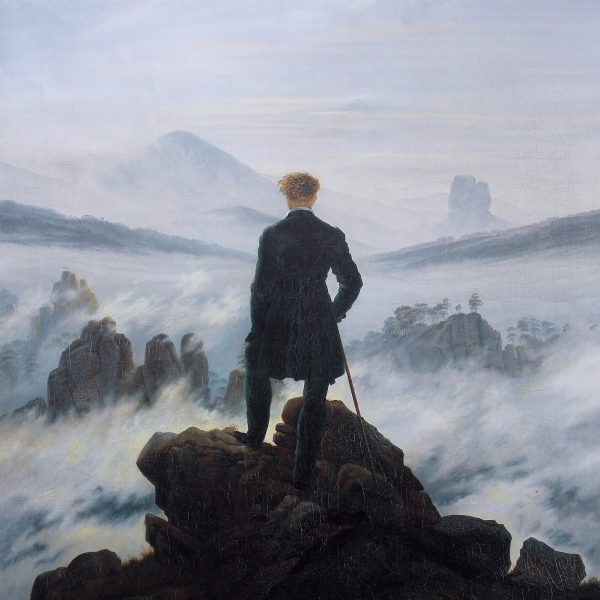 "SİS DENİZİNİN ÜZERİNDEKİ GEZGİN ""WANDERER ABOVE THE SEA OF FOG"" – FRIEDRICH"