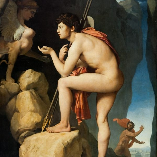 "OİDİPUS VE SFENKS ""OEDIPUS AND THE SPHINX"" – INGRES"
