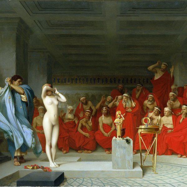"""PHRYNE AREOPAGUS ÖNÜNDE """"PHRYNE BEFORE THE AREOPAGUS"""" – GÉRÔME"""