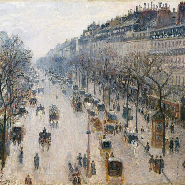 "BİR KIŞ SABAHI MONTMARTRE BULVARI ""THE BOULEVARD MONTMARTRE ON A WINTER MORNING"" – PISSARRO"