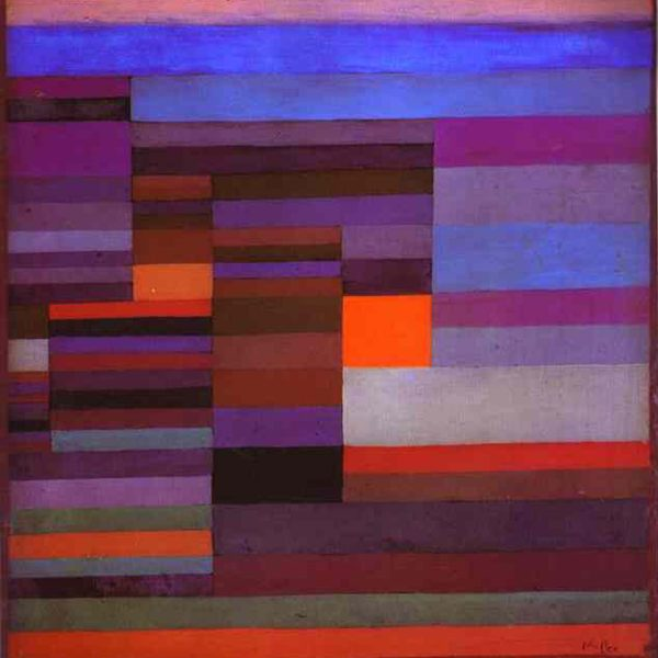 "AKŞAM ATEŞİ ""FIRE IN THE EVENING"" – KLEE"