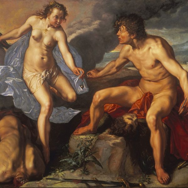 "JUNO MERKÜR'DEN ARGOS'UN GÖZLERİNİ ALIYOR ""JUNO RECEIVING THE EYES OF ARGUS FROM MERCURY"" – GOLTZIUS"