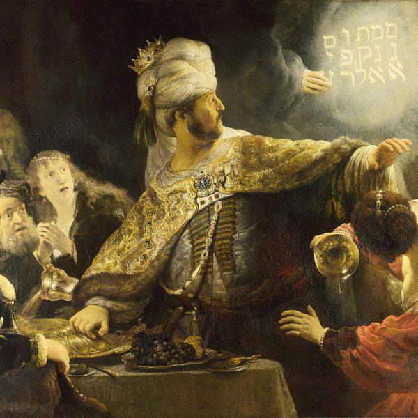 """BELŞAZZAR'IN ZİYAFETİ """"BELSHAZZAR'S FEAST"""" – REMBRANDT"""