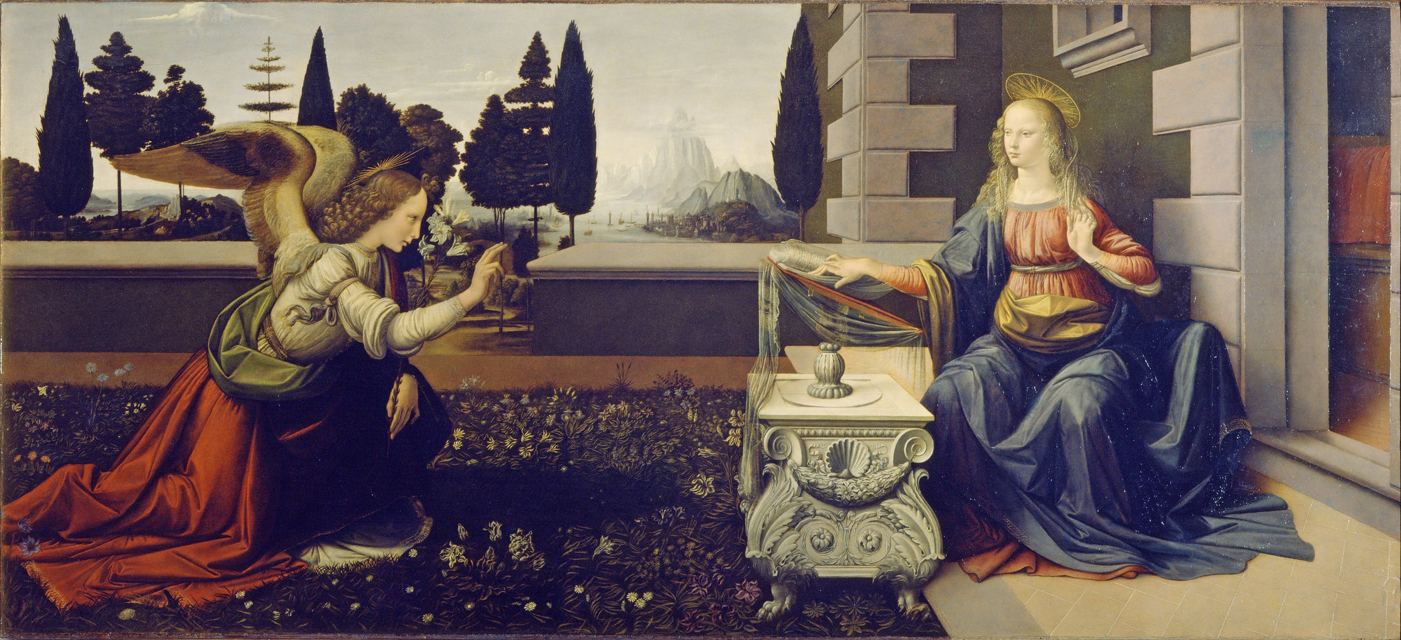 THE ANNUNCIATION – LEONARDO DA VINCI